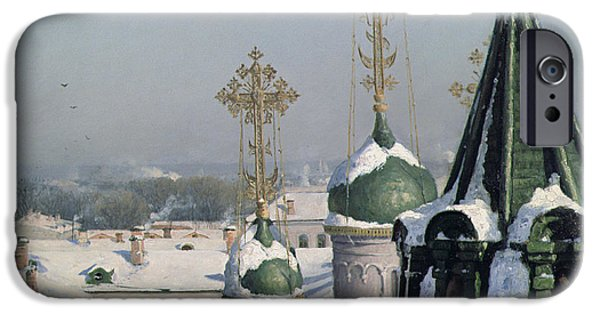 View From A Window Of The Moscow School Of Painting IPhone 6s Case by Sergei Ivanovich Svetoslavsky
