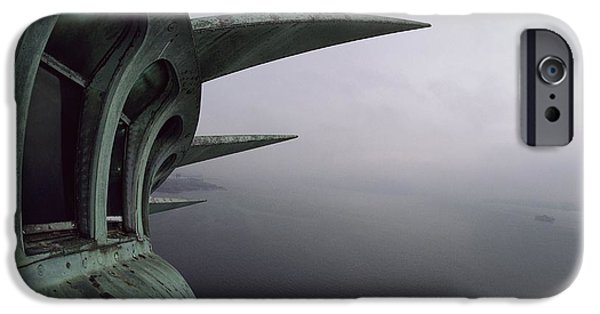 Statue Of Liberty iPhone 6s Case - View Of New York Harbor From The Top by Paul Chesley