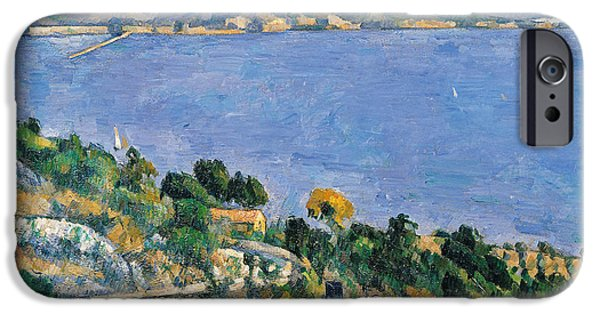 View Of The Bay Of Marseilles IPhone Case by Paul Cezanne