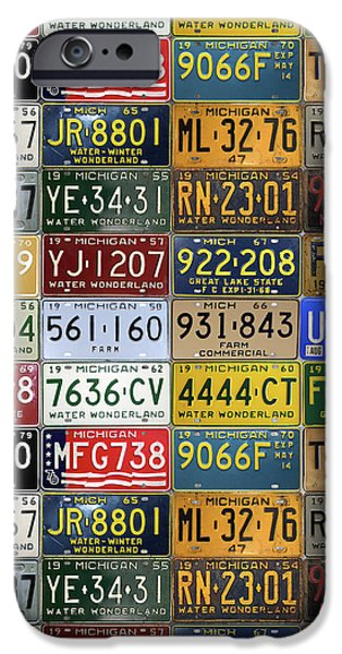 Vintage License Plates From Michigan's Rich Automotive Past IPhone 6s Case by Design Turnpike