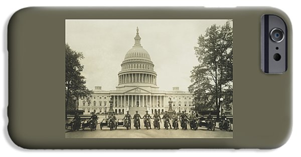 Vintage Motorcycle Police - Washington Dc  IPhone 6s Case by War Is Hell Store