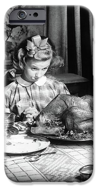 Vintage Photo Depicting Thanksgiving Dinner IPhone 6s Case by American School