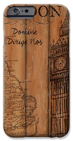 Vintage Travel London IPhone 6s Case by Debbie DeWitt