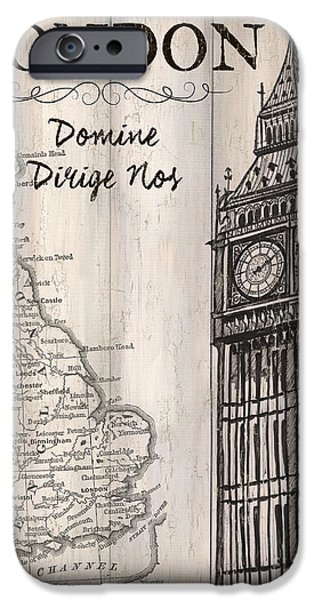 Vintage Travel Poster London IPhone 6s Case by Debbie DeWitt