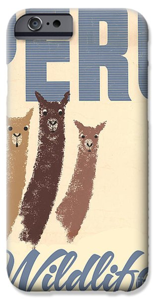 Vintage Wild Life Travel Llamas IPhone 6s Case by Mindy Sommers