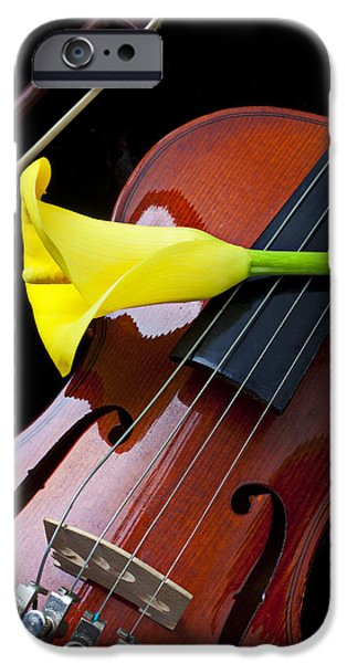 Music iPhone 6s Case - Violin With Yellow Calla Lily by Garry Gay