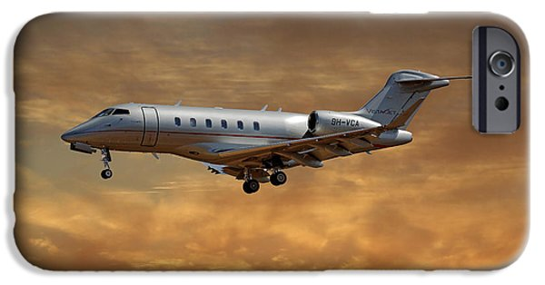 Jet iPhone 6s Case - Vista Jet Bombardier Challenger 300 2 by Smart Aviation