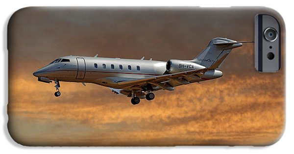 Jet iPhone 6s Case - Vista Jet Bombardier Challenger 300 3 by Smart Aviation