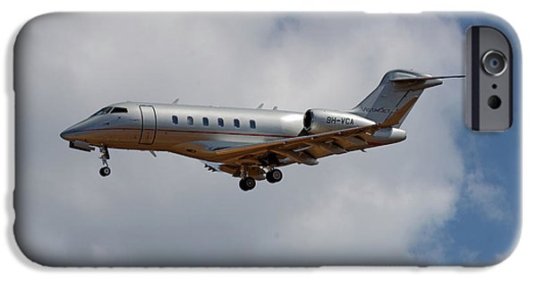 Jet iPhone 6s Case - Vista Jet Bombardier Challenger 300 5 by Smart Aviation
