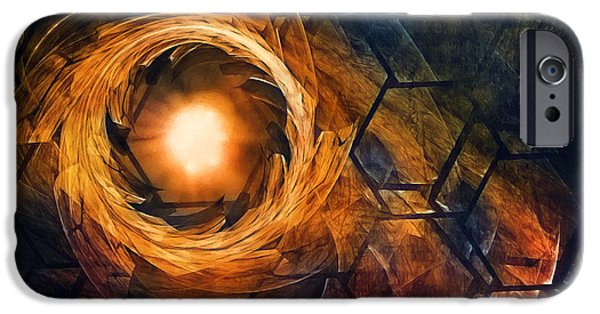 Fractal iPhone 6s Case - Vortex Of Fire by Scott Norris