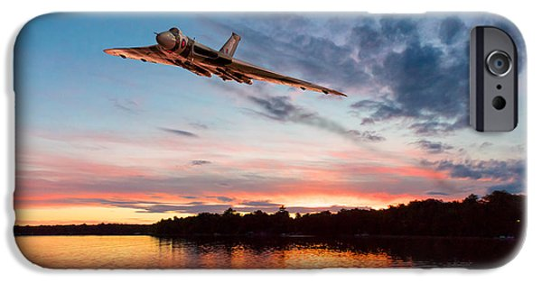 IPhone 6s Case featuring the digital art Vulcan Low Over A Sunset Lake by Gary Eason