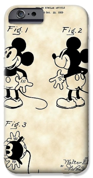 Walt Disney Mickey Mouse Patent 1929 - Vintage IPhone 6s Case