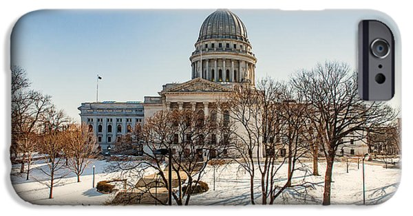 Capitol Building iPhone 6s Case - Warm Winter Capitol by Todd Klassy