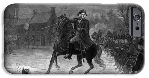 George Washington iPhone 6s Case - Washington At The Battle Of Trenton by War Is Hell Store