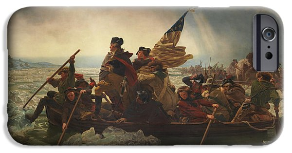 George Washington iPhone 6s Case - Washington Crossing The Delaware by War Is Hell Store