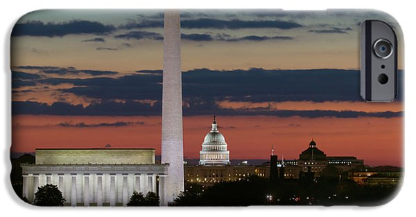 Washington D.c iPhone 6s Case - Washington Dc Landmarks At Sunrise I by Clarence Holmes
