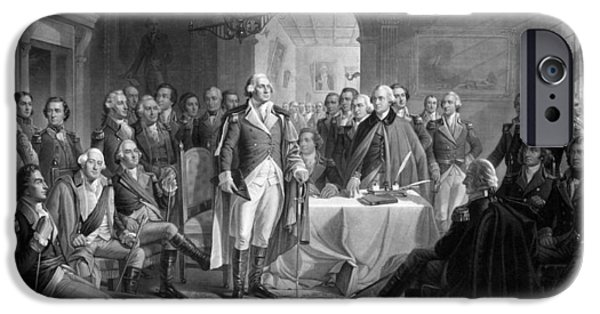 George Washington iPhone 6s Case - Washington Meeting His Generals by War Is Hell Store