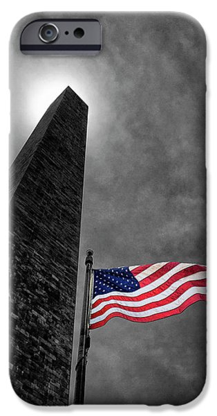 Washington Monument And The Stars And Stripes IPhone 6s Case by Andrew Soundarajan