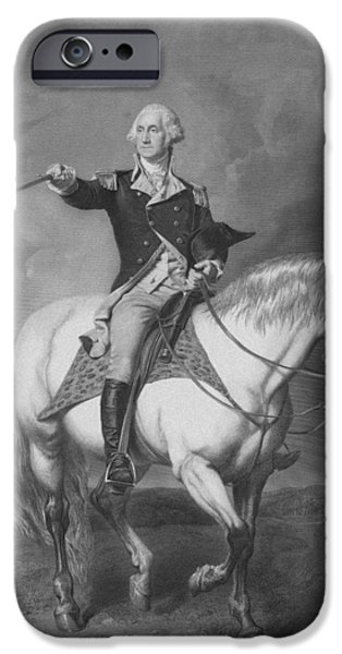 George Washington iPhone 6s Case - Washington Receiving A Salute At Trenton by War Is Hell Store