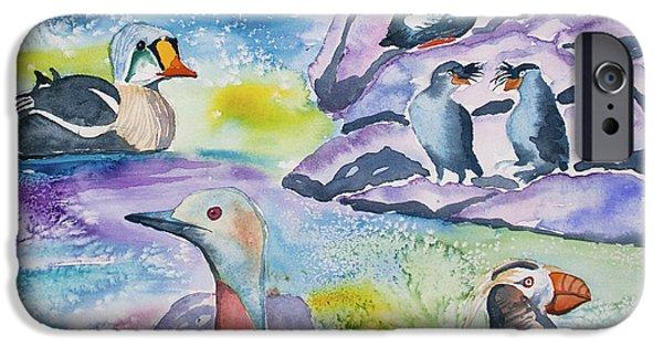 Watercolor - Alaska Seabird Gathering IPhone 6s Case