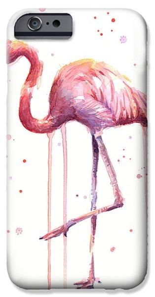 Watercolor Flamingo IPhone 6s Case
