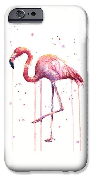 Watercolor Flamingo IPhone 6s Case by Olga Shvartsur