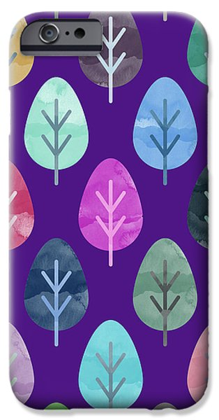 Watercolor Forest Pattern II IPhone 6s Case by Amir Faysal