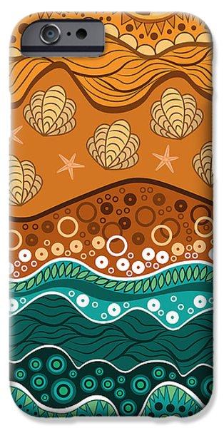 Digital Image iPhone 6s Case - Waves by Veronica Kusjen