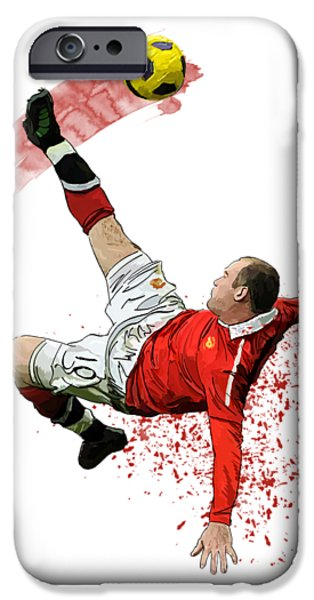 Wayne Rooney IPhone 6s Case by Armaan Sandhu
