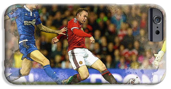 Wayne Rooney Of Manchester United Scores IPhone 6s Case by Don Kuing
