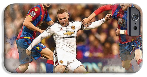 Wayne Rooney Shoots At Goal IPhone 6s Case by Don Kuing