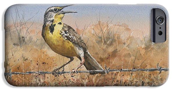Meadowlark iPhone 6s Case - Western Meadowlark by Sam Sidders