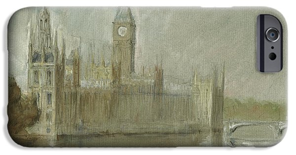 Westminster Palace And Big Ben London IPhone 6s Case by Juan Bosco