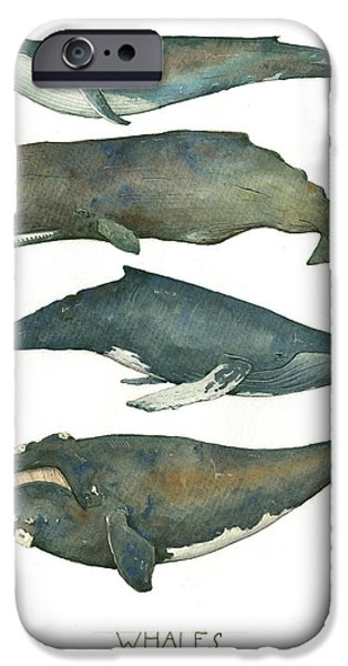 Whales Poster IPhone 6s Case by Juan Bosco
