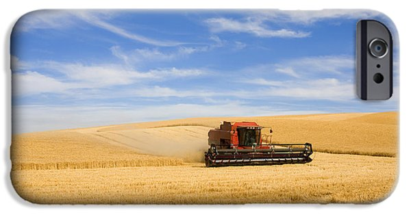 Rural Scenes iPhone 6s Case - Wheat Harvest by Mike  Dawson
