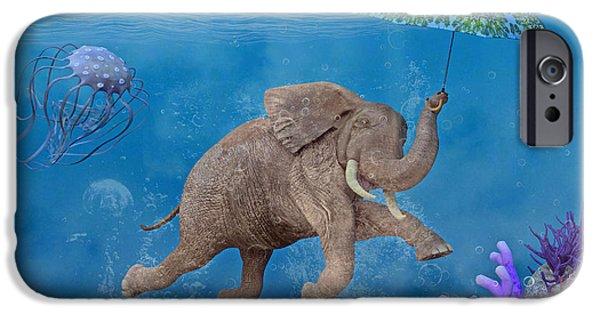 Scuba Diving iPhone 6s Case - When Elephants Swim by Betsy Knapp