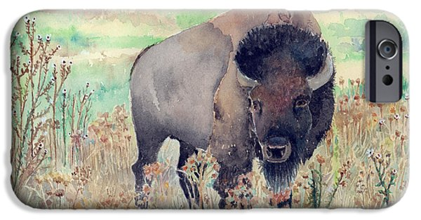 Where The Buffalo Roams IPhone 6s Case by Arline Wagner