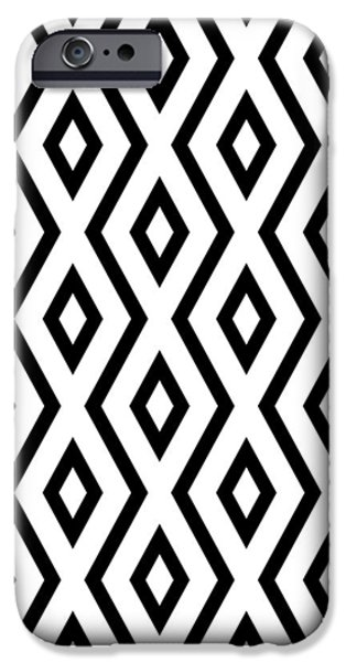 Beach iPhone 6s Case - White And Black Pattern by Christina Rollo