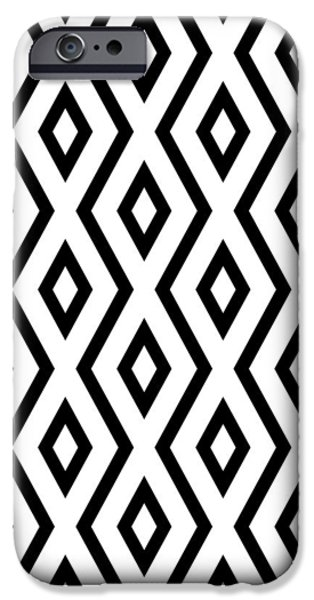 White And Black Pattern IPhone 6s Case by Christina Rollo