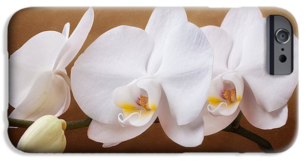 White Orchid Flowers And Bud IPhone 6s Case by Tom Mc Nemar