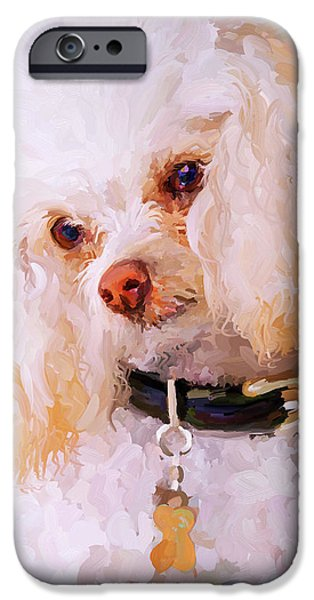 White Poodle IPhone 6s Case by Jai Johnson