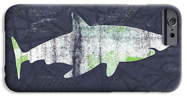 Reef Shark iPhone 6s Case - White Shark- Art By Linda Woods by Linda Woods
