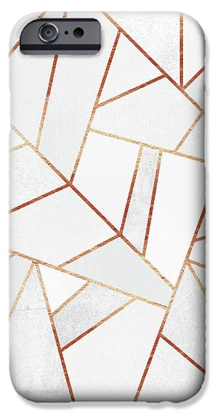 White Stone And Copper Lines IPhone 6s Case by Elisabeth Fredriksson