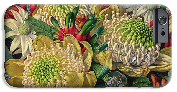 White Waratahs Flannel Flowers And Kangaroo Paws IPhone 6s Case