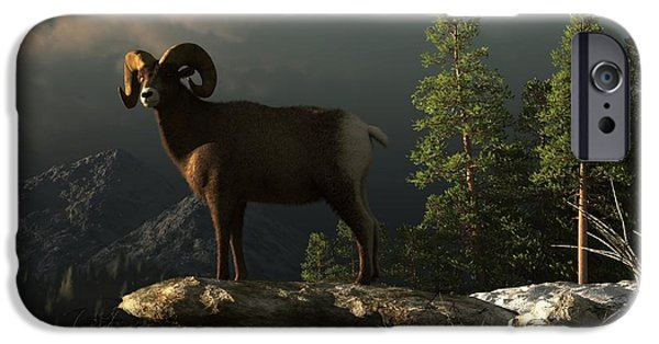 Rocky Mountain Bighorn Sheep iPhone 6s Case - Wild Ram by Daniel Eskridge