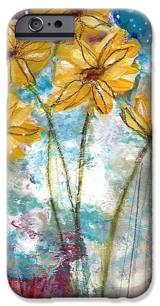 Sunflower iPhone 6s Case - Wild Sunflowers- Art By Linda Woods by Linda Woods