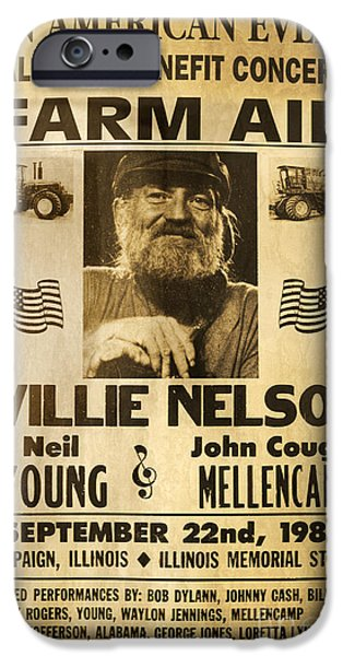 Willie Nelson Neil Young 1985 Farm Aid Poster IPhone 6s Case