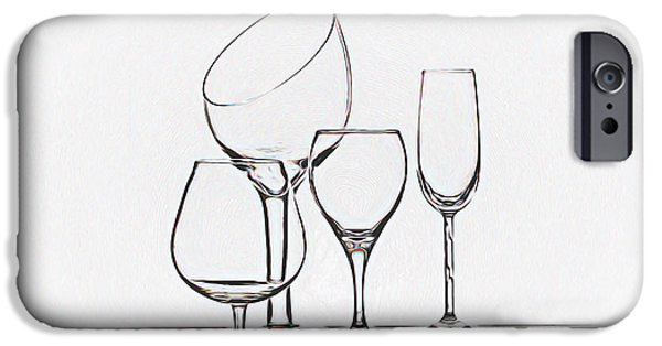 Wine iPhone 6s Case - Wineglass Graphic by Tom Mc Nemar
