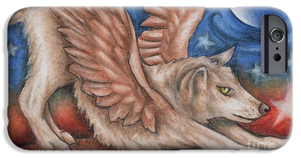Winged Wolf In Downward Dog Yoga Pose IPhone 6s Case