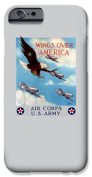Eagle iPhone 6s Case - Wings Over America - Air Corps U.s. Army by War Is Hell Store